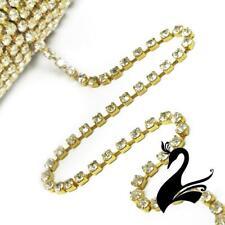 Rhinestone Trim - Diamante Chain SS16 Style 3296 (Price per 1m) - Dance Costumes