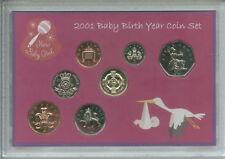 New Born Baby Girl Coin Ensemble Cadeau 2001 (Parent maman & papa naissance Keepsake Présent)