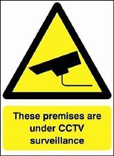 I locali sotto sorveglianza CCTV Sicurezza segni, adesivi, IMPERMEABILE, PVC RIGIDO