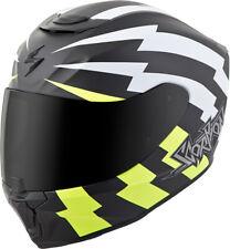 Scorpion Matte White/Neon/Black EXO-R420 Tracker Full Face Motorcycle Helmet