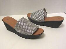New Womens Bernie Mev Sling Platform Sandal Shoes EUR 36 37 39 40 Silver & Gray