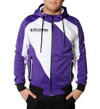 VSCT Diagonal Flash Track Jacke lila Zipper Blouson Sweat Hoodie Trainingsjacke