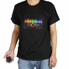 Fashion Men & Women Clubbing Light Up Flashing Sound Activated LED T-Shirt Rave