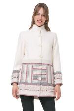 Desigual Off-White Fringed Ethnic Asha Coat 36-46 UK 8-18 RRP?159
