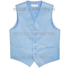 New Men's Vesuvio Napoli Tuxedo Vest Waistcoat only prom party Light Blue