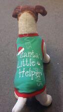 Christmas Dog Pet Shirt EMBROIDERED SANTAS LIL HELPER PARISIAN PET FREE SHIPPING
