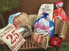 VINTAGE CHRISTMAS XMAS GIFT SACK STOCKING TOY FILLER BAG SHABBY CHIC DECORATION