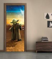 Yoda Star Wars Door Wrap Decal Wall Sticker Mural Home Decor D194