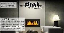 Stylish, Wonderful Birds On Branches Vinyl Wall Sticker Decoration 30cm x 100cm
