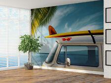 Camper Van Playa Surf Foto Wallpaper Mural (6582453) el bus de Surf