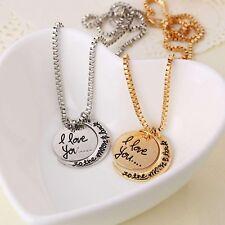 """Twee stuk """"I Love You naar de maan en terug"""" hanger ketting + Gift Box"""