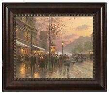 Thomas Kinkade Boulevard Lights, Paris 16 x 20 Brushstroke Vignette