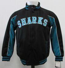 7db65bff2 San Jose Sharks NHL Youth Unisex Full Zip Track Jacket Black Teal M (12-