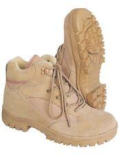Outdoor BOOTS Stiefel SEMI CUT Beige Kampfstiefel Wander-Schuhe Halbstiefel