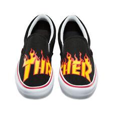 Vans THRASHER Slip-On Pro Shoes (NEW) Black Slip Ons FREE SHIP Mens Sizes 3.5-13