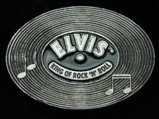PJ11170 VINTAGE 1988 **ELVIS KING OF ROCK N' ROLL** MUSIC COMMEMORATIVE BUCKLE