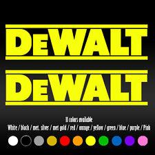 """7"""" Dewalt Tool Box Mechanic wood Die Cut Bumper Car Window Vinyl Decal sticker"""