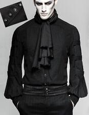 Chemise gothique steampunk dandy jabot lavallière platron plissé Punkrave Homme