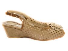 Grunland aiko sa0406 beige sandalo zeppa camoscio donna  mujer de cuña