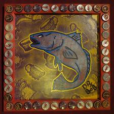 FISHERMAN'S LUCK New Orleans Louisiana Classic Outsider Folk Art by DR. BOB