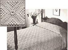 Vintage Bedspread Popcorn Crochet MOTIF BLOCK PATTERN