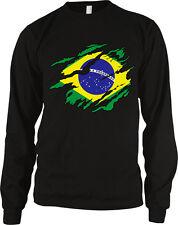 Brazil Flag Country Shape Brasil Brazilian Pride World Cup Long Sleeve Thermal