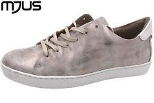 MJUS Damen Sneaker Taupe Metallic Echtleder Italienische Schuhe NEU 265167
