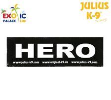 JULIUS-K9 2 ETICHETTE IN VELCRO PATCH HERO PER PETTORINA CANE IDC BELT POWER DOG
