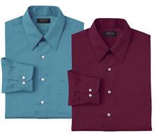 New Arrow Mens Wrinkle-Free Regular-Fit Poplin Point-Collar Dress Shirt MSRP $45