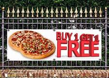 OUTDOOR PVC BUY 1 GET 1 FREE PIZZA BANNER TAKEAWAY SIGN ADVERT FREE ART WORK