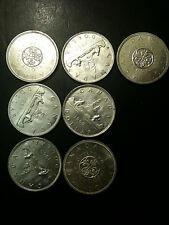 7x 1962 1963 1964 Canada Dollars Silver UNC Elizabeth II Mint Voyager Quebec