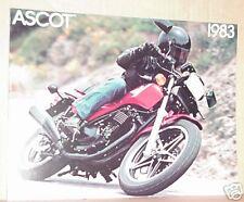 1983 Honda FT500 ASCOT Motorcycle Sales Brochure - Literature
