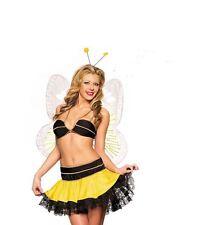 STUNNING FLIRTY FANTASY YELLOW BUTTERFLY LADIES FANCY DRESS COSTUME UK 10-12