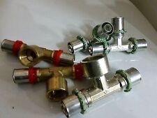 Raccordo a PRESSARE Pinzare , per Multistrato 16 x 2 mm Ottone