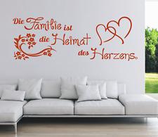 Wandtattoo Spruch , Familie Heimat Herzens Wandsticker Wandaufkleber Sticker 3