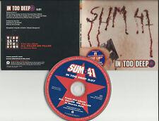 SUM 41 In too Deep RARE STICKERED PROMO DJ CD Single