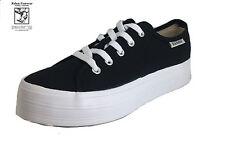 RABEN RABEN Platform Sneaker Black/White Canvas