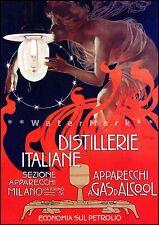 Distillerie Italiane 1899 Vintage Poster Print Wall Decor Art Nouveau Italy