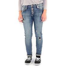Madame ELYSEES boyfriend m10858 Jeans pour femmes stretch,couleur Midblue,14549