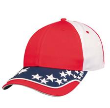 USA US Flag American Patriotic 6 Panel Cotton Twill Baseball Hats Caps Racing