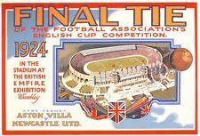 1924 FA Cup Final Newcastle United Aston Villa Poster A3 / A2 Print
