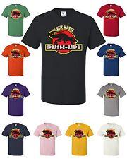 T-Rex Hates Push-Ups T-Shirt Funny T Rex Dinosaur Gym Workout Drinking Tee Shirt