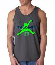 "CHARCOAL Doug Baldwin Seattle Seahawks ""Air Baldwin""   TANK-TOP"