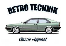 AUDI COUPE GT t-shirt. RETRO TECHNIK. CLASSIC CAR. MODIFIED. 80. NOT QUATTRO.