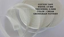 19mm bianco crema GROSSAGRANA Tela Di Cotone cinghia in tessuto nastro cucire