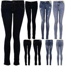 Damen Dunkel Jeans Hell Acid Wash Damen Hoher Bund Zerrissen Hautenge Jeans