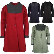 Neuf Femmes 1 Bouton Militaire Fashion Manteau 16-22