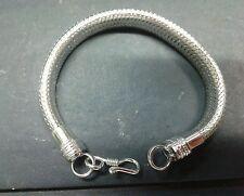 bracciale bagno argento indiano   1.5 cm lucido o antico  bracelet indian silver