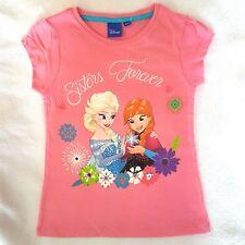 DISNEY t-shirt manches courtes LA REINE DES NEIGES  4 5 6 ou 8 ans  rose NEUF