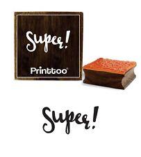 Super Mot Scrap-Réservation Bloc De Timbre En Caoutchouc Bois